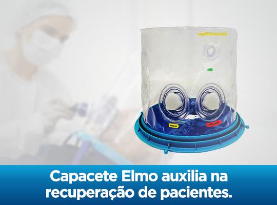 Capacete Elmo auxilia na recuperação de pacientes